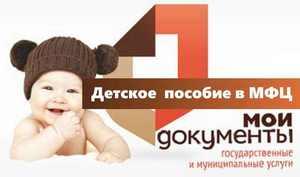 Пособие при рождении ребенка мфц